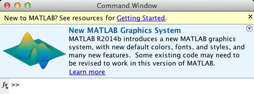 MATLAB R2014b Command Window at Startup